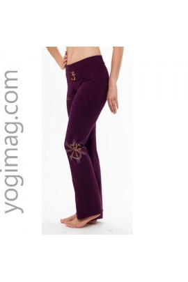 Pantalon de Yoga Lotus Bordeaux