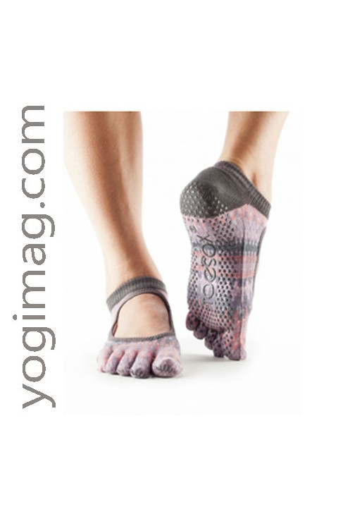toesox chaussettes yoga ballerine bio antid rapante mod le yogimag. Black Bedroom Furniture Sets. Home Design Ideas
