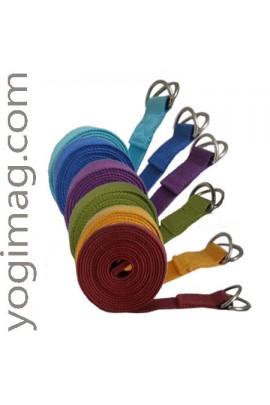 Sangle de yoga safran ajustable en coton naturel spéciale asana