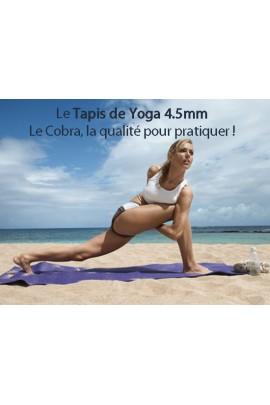 Tapis de yoga Océania bleu antidérapant supérieur certifié