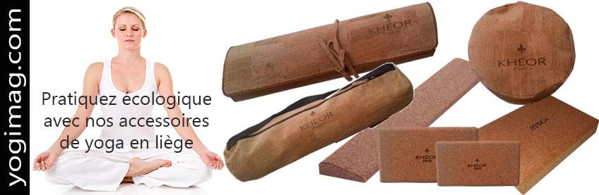Accessoires de yoga en liège - Yogimag