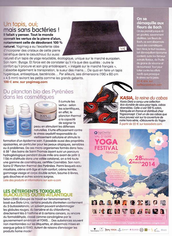 Article Tapis de yoga latex Yogimag