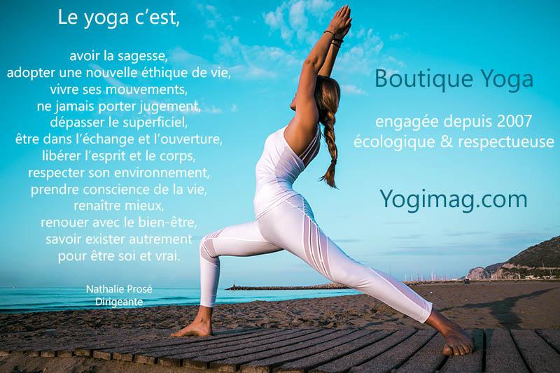 Boutique yoga bien-être Yogimag.com