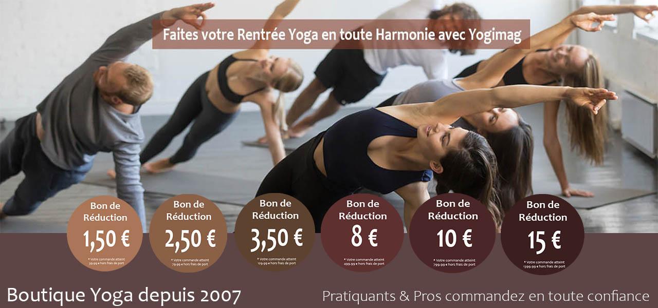 Boutique Yoga Yogimag - Tapis de yoga, accessoires yogi, coussins de méditation, zabutons, futons shiatsu, matériel de bien-être, nattes pilates