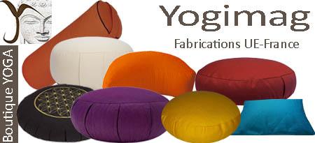 Coussins de méditation yoga Yogimag