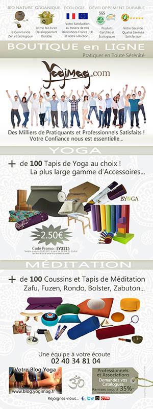 Esprit Yoga Yogimag Boutique Publicité