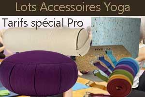 Accessoires équipement yoga professionnel yogimag en lot pro