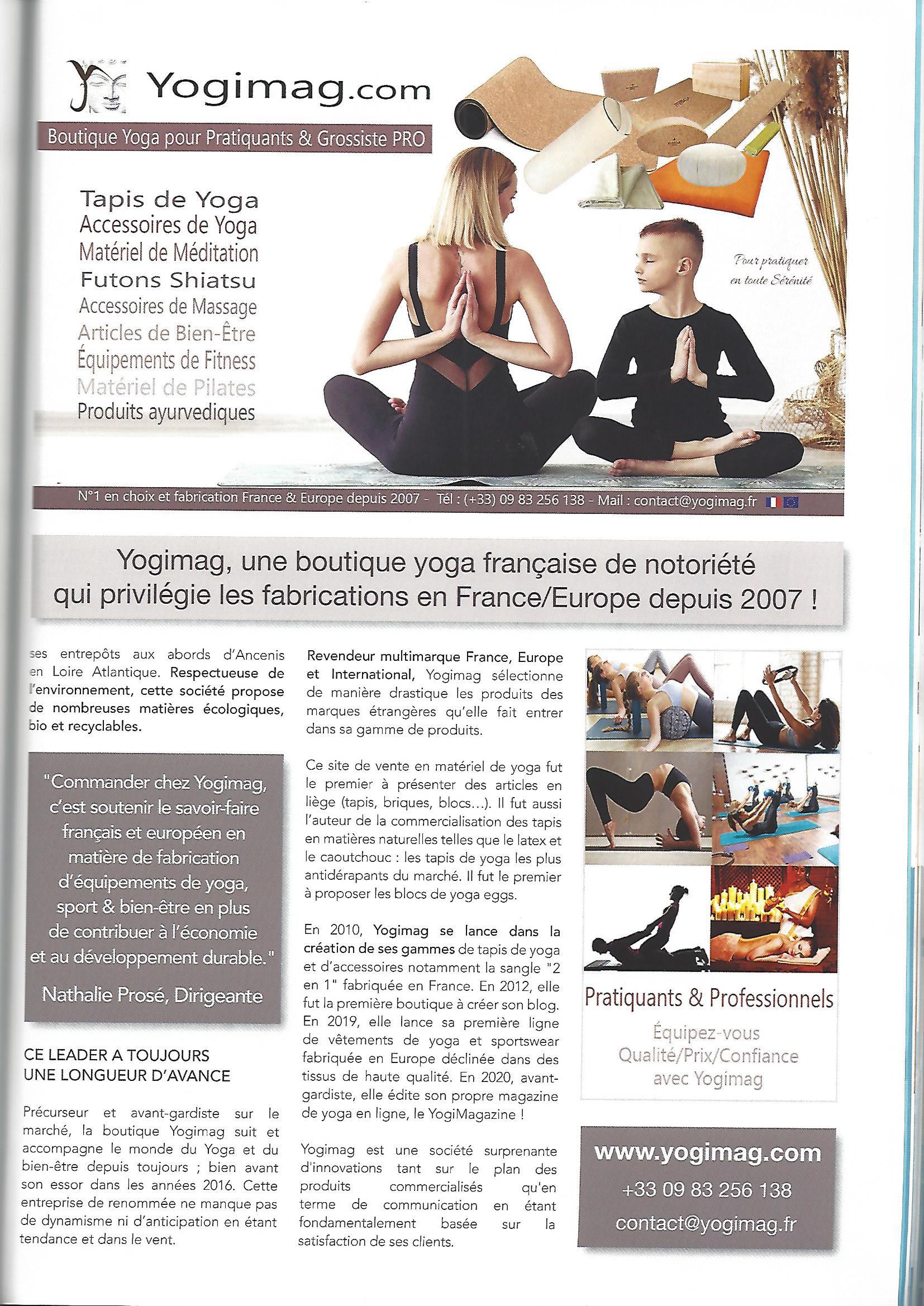 La boutique yoga Yogimag dans Médical Magazine
