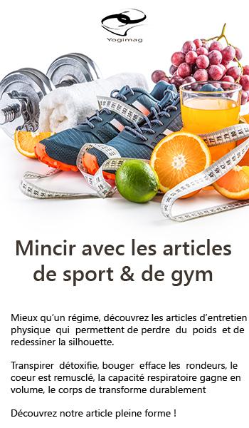 Mincir avec les articles de sport et de gym