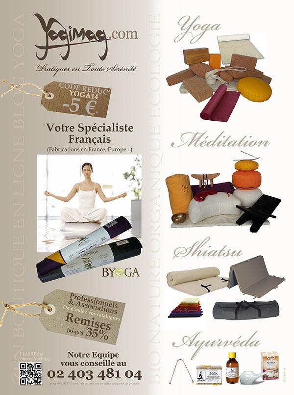 Publicité Yogimag dans le magazine Esprit Yoga en 2013
