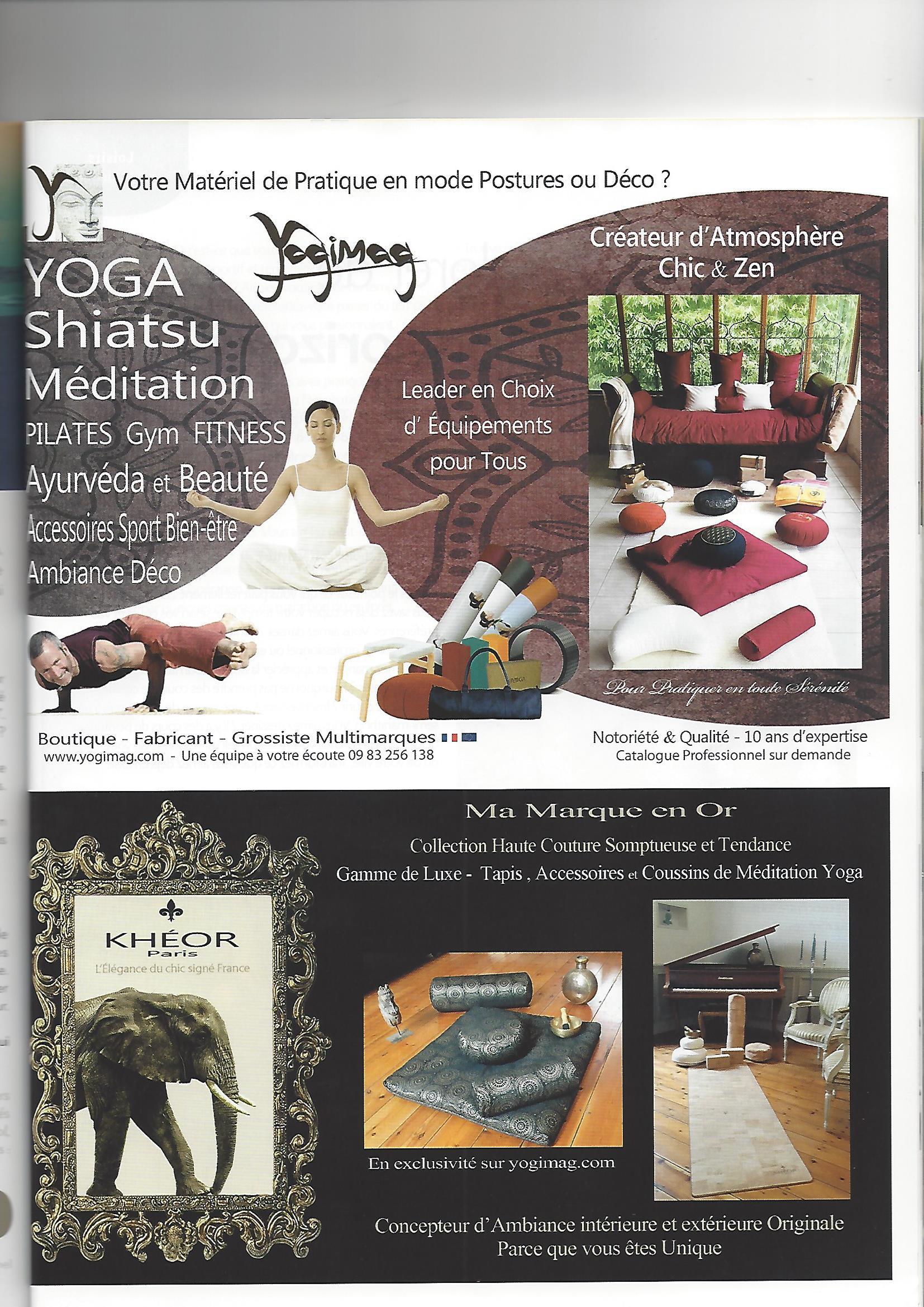 Publicité Yogimag dans le magazine maison actuelle