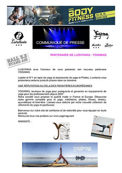 Yogimag au Salon Body Fitness 2020 à Paris