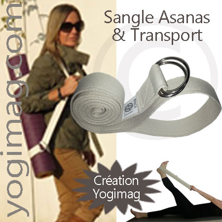 sangle de yoga yogimag postures et transport de tapis de yoga