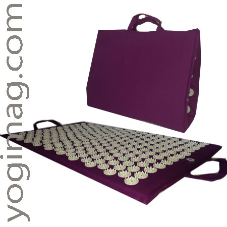 tapis d'acupression de massage fleurs de lotus yogimag pliable transport