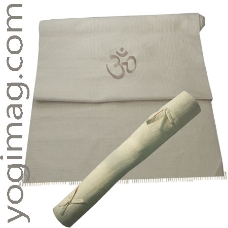 tapis de yoga bio en coton - natte yogimag
