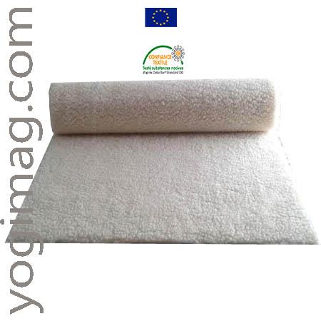 Tapis de yoga doux pro en laine bio écologique