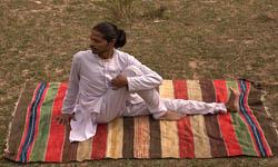Tapis de yoga en coton