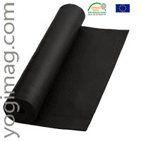 Tapis de yoga noir