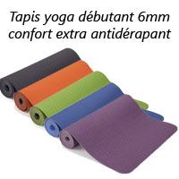 Tapis yoga débutant confort extra antidérapant