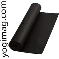 Tapis de yoga pour débutant noir yogimag