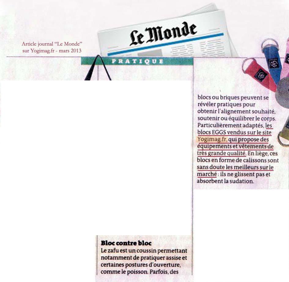 Yogimag en article dans le journal le Monde