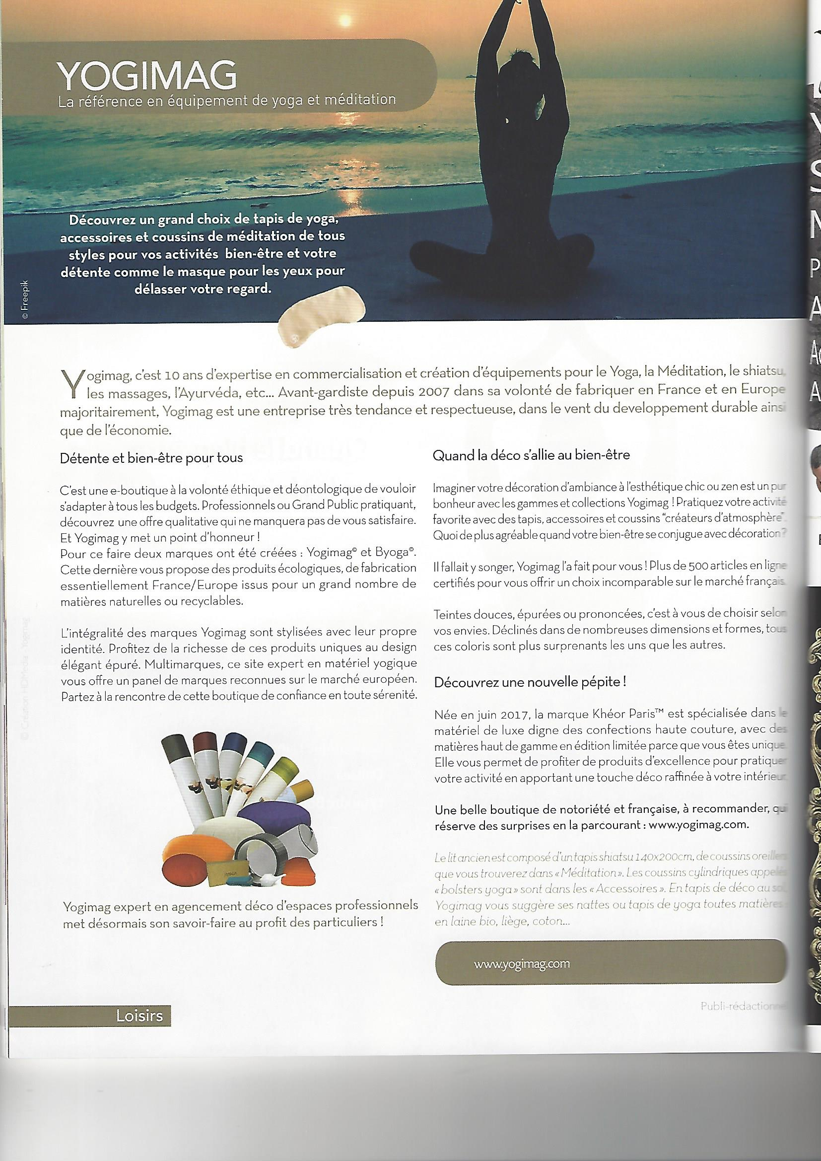 Yogimag dans la revue Maison Actuelle