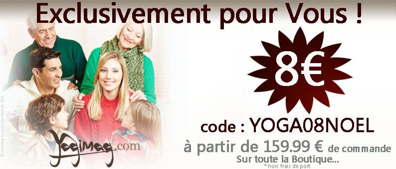 idée cadeau yoga yogimag noël promo cheque discount