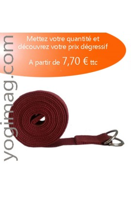 Lot Sangle Yoga Pro Bordeaux