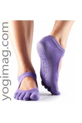 chaussettes yoga agrippantes avec doigts de pied séparés