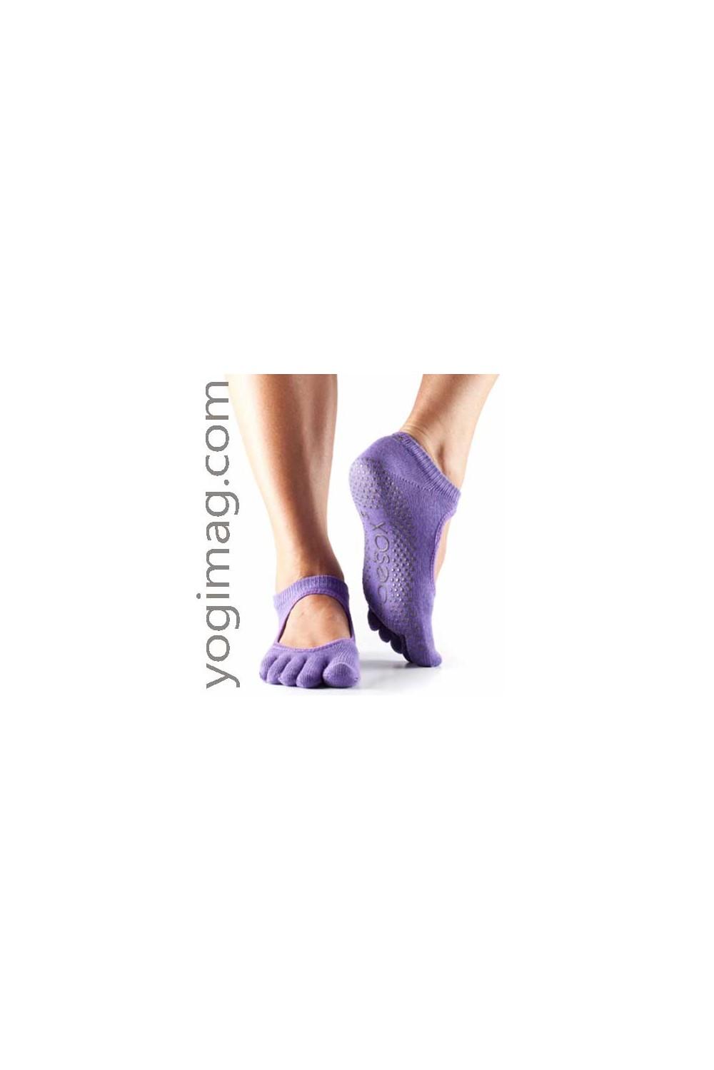 chaussettes yoga agrippantes avec doigts de pied s u00e9par u00e9s paire