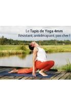 Tapis de yoga antidérapant 1er prix - 4 mm