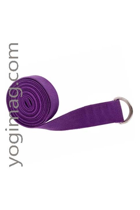 Sangle yoga en coton naturel eco 38mm standard
