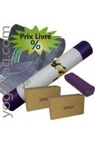 Kit de yoga Iyengar violet