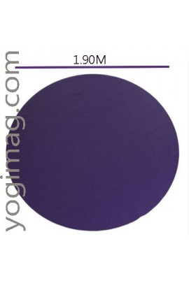 Tapis de yoga XL grande dimension rond 360°