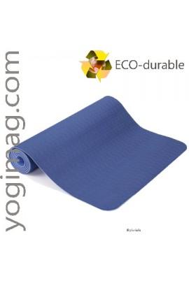 Tapis de Yoga TPE Bleu Modèle Sérénité pour la gym et le sport