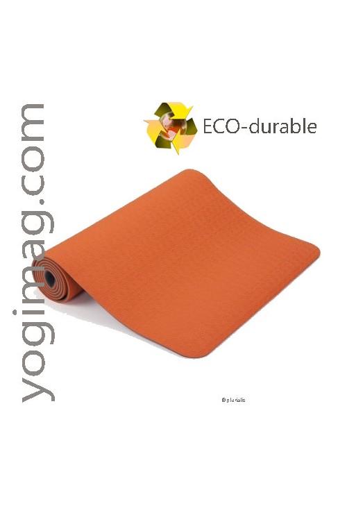 Tapis de Yoga TPE Orange Modèle Sérénité sans pvc ni latex