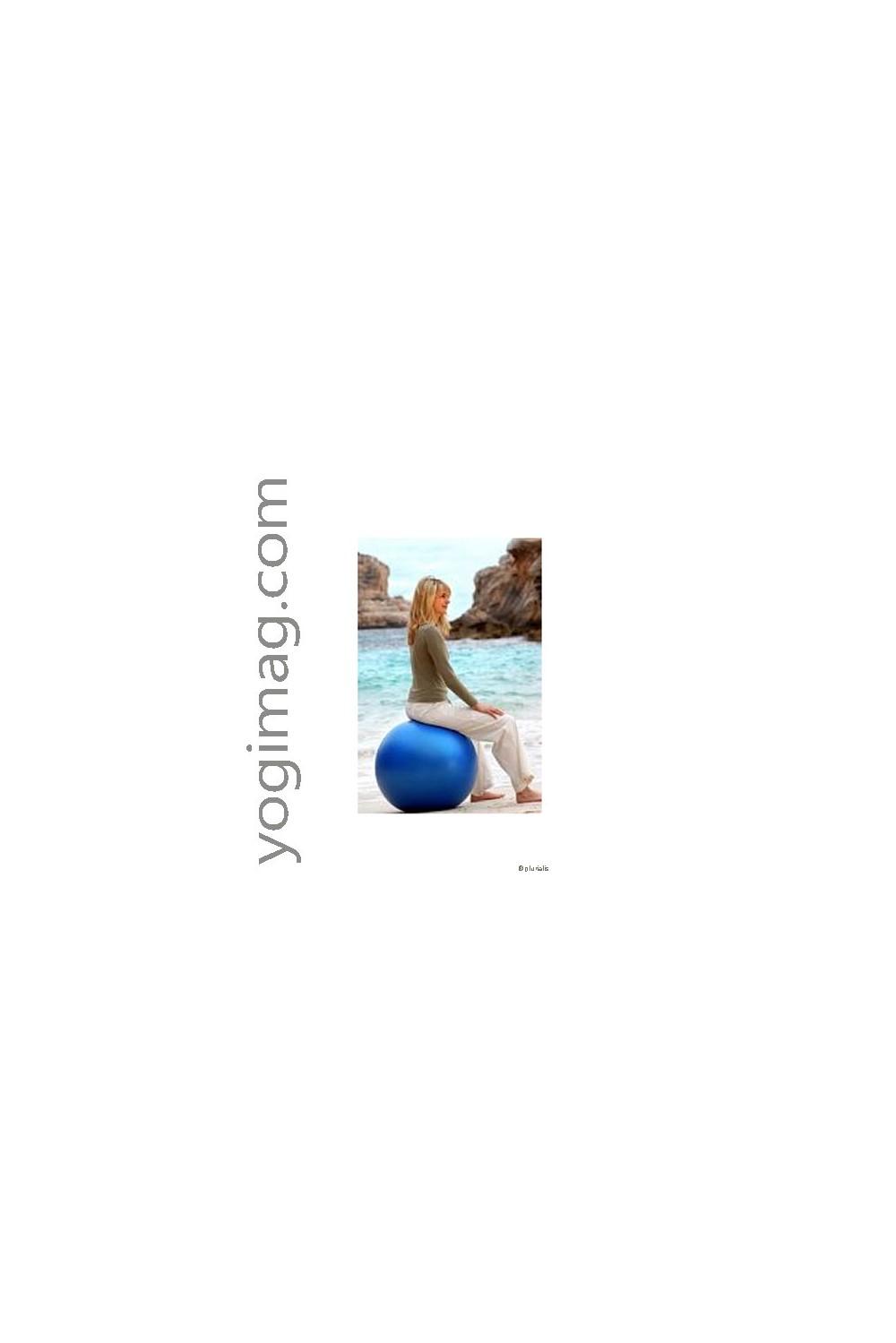 ballon de gym yoga swiss ball 65cm sports maternit. Black Bedroom Furniture Sets. Home Design Ideas