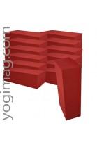 10 Briques yoga Pro Bordeaux EVA 22x11x7 cm - Exclu Web