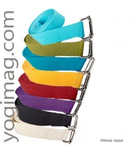 Sangles Yoga coton pour exercices & postures asanas