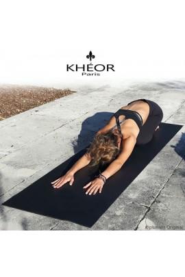 Tapis Yoga Noir XL de Marque Khéor Paris France