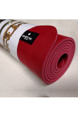 Tapis Yoga Caoutchouc rouge pour pratique intensive