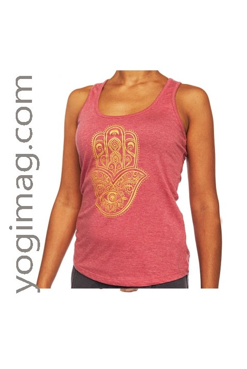 Débardeur Yoga La Main de Fatima 100% coton Bio GOTS