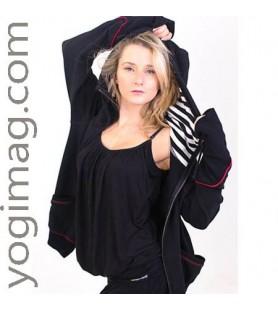 Veste yoga : un vêtement yogi tendance style blouson jogging