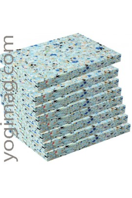 20 demi-blocs yoga en mousse recyclée