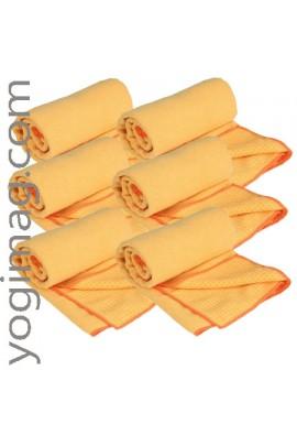 6 serviettes antidérapantes pour tapis de yoga