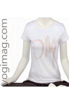 T-shirt Yoga Om Coton Bio Blanc