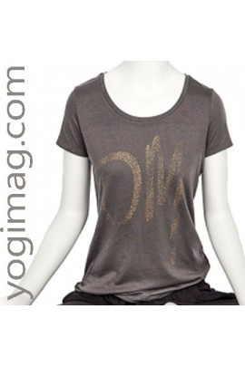 T-shirt Yoga Om Bio anthracite