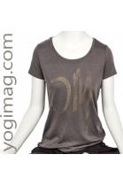 T-shirt Yoga Om Bio anthracite