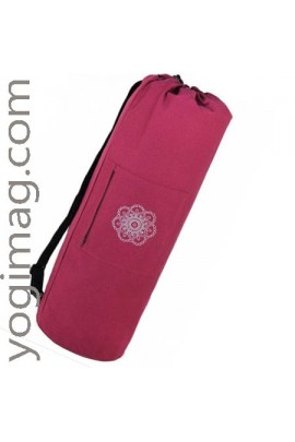 Grand sac tapis de yoga en laine