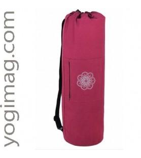 Grand sac tapis de yoga en laine